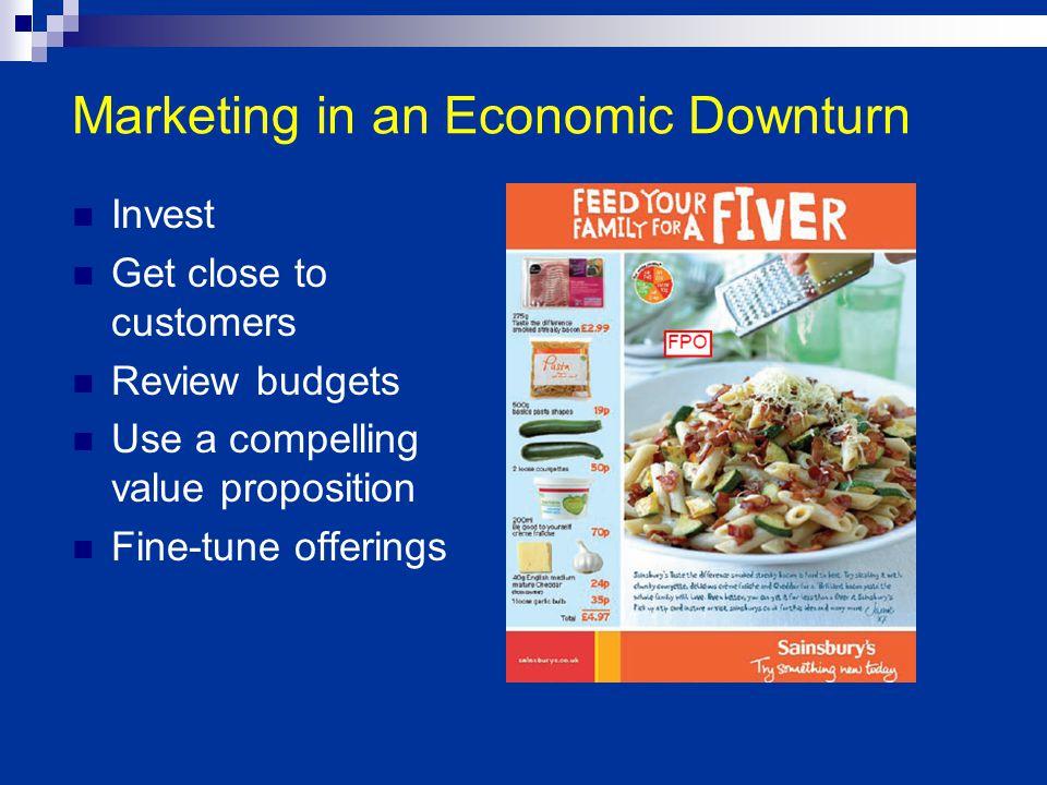 Marketing in an Economic Downturn