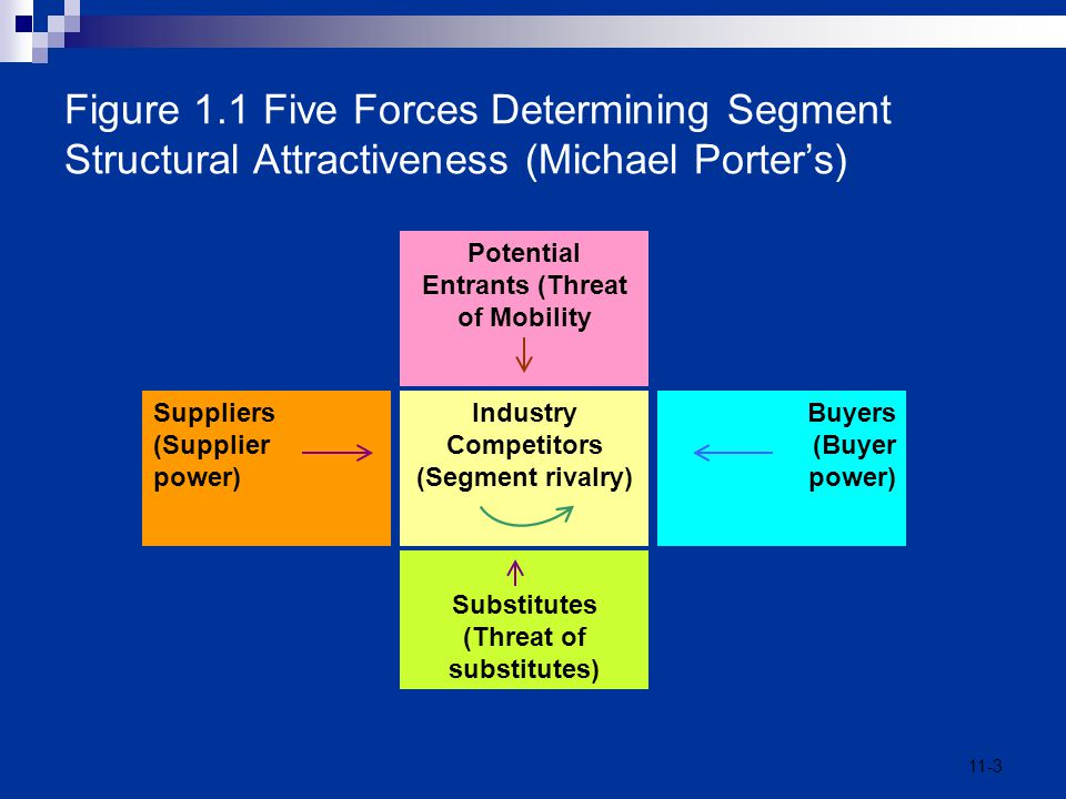 Figure 1.1 Five Forces Determining Segment Structural Attractiveness (Michael Porter's)