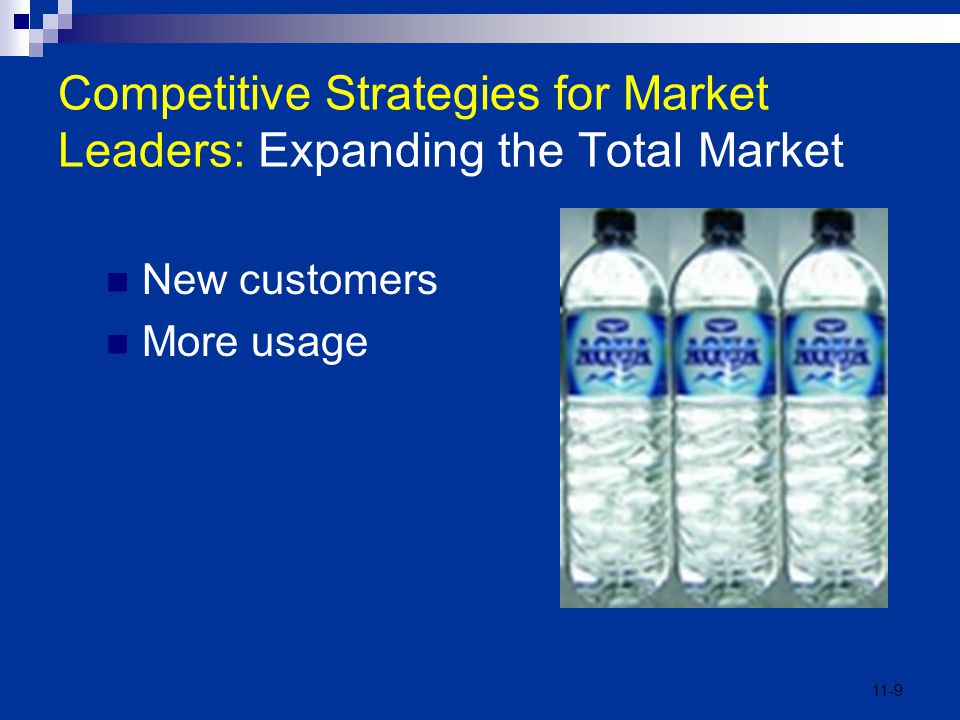 Competitive Strategies for Market Leaders: Expanding the Total Market