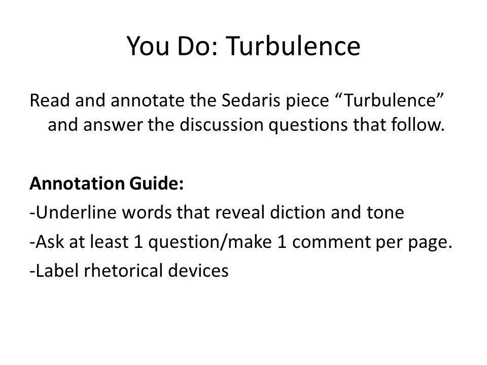 You Do: Turbulence