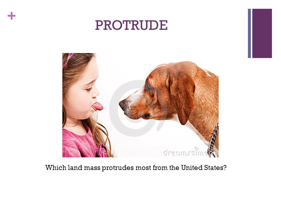 Which land mass protrudes most from the United States