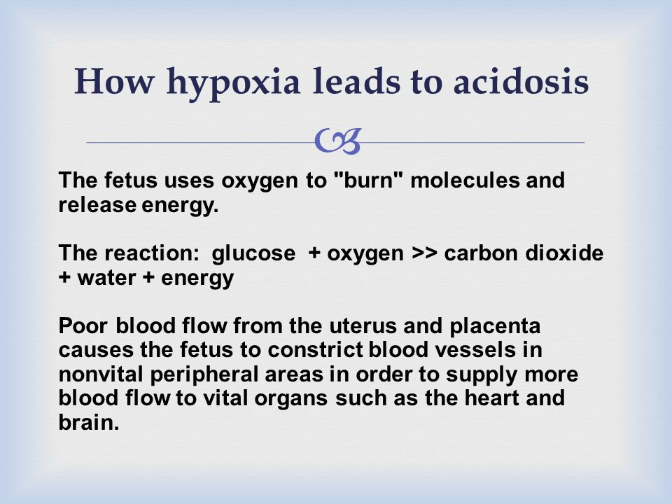 How hypoxia leads to acidosis