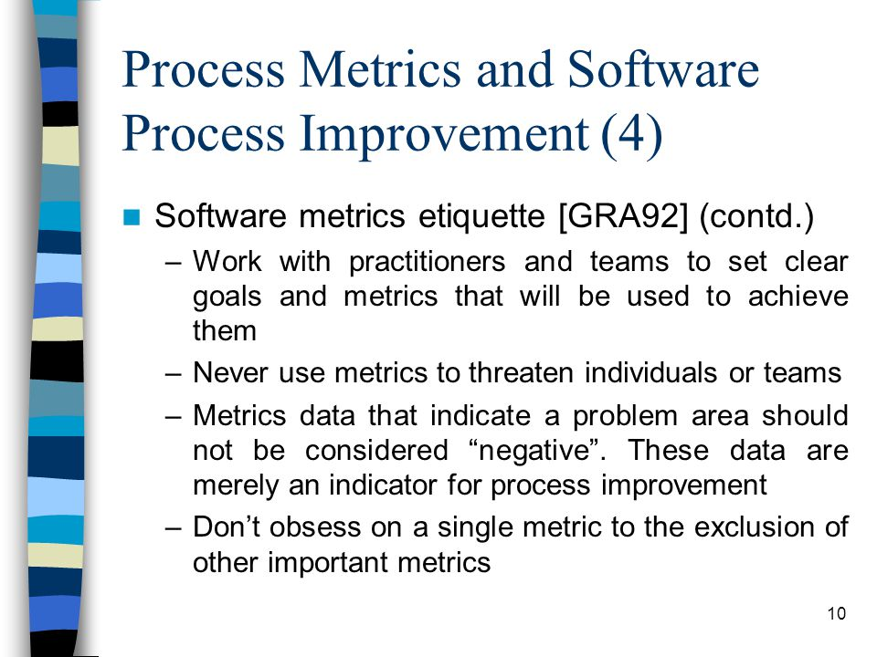 Process Metrics and Software Process Improvement (4)