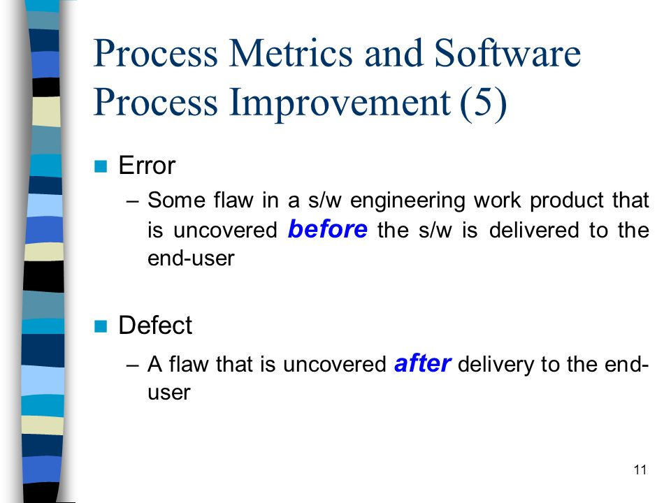 Process Metrics and Software Process Improvement (5)