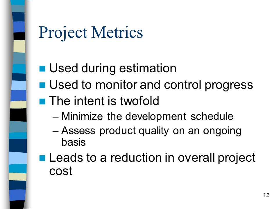 Project Metrics Used during estimation