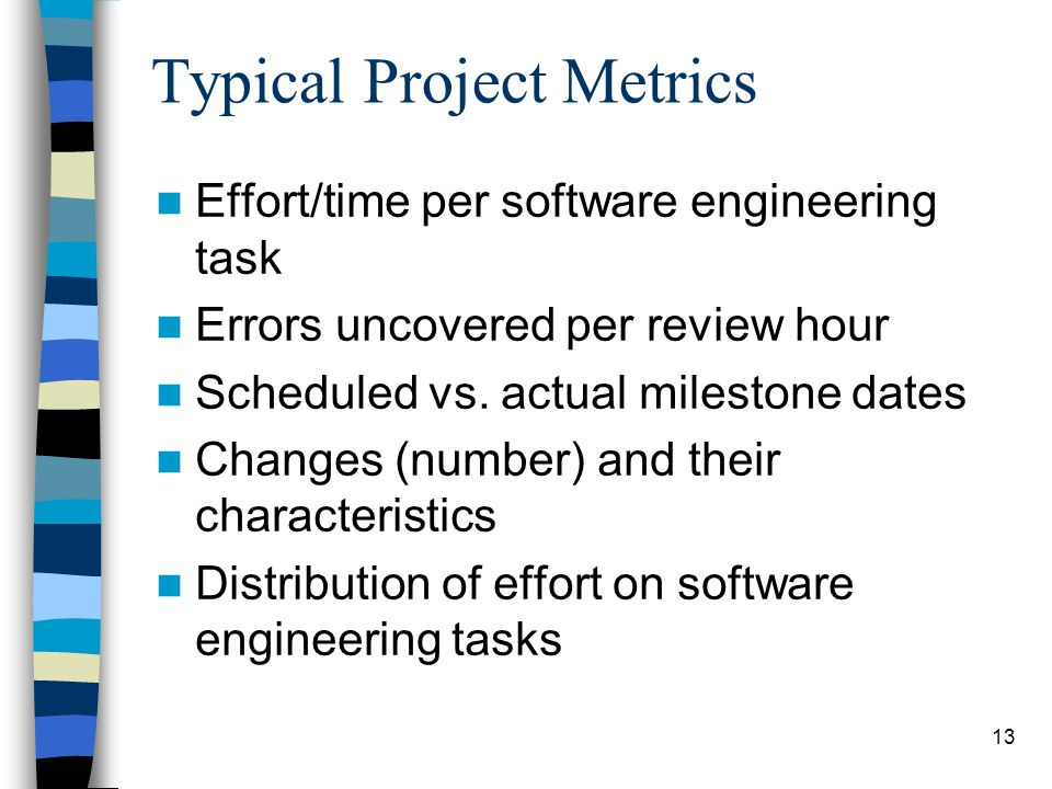 Typical Project Metrics