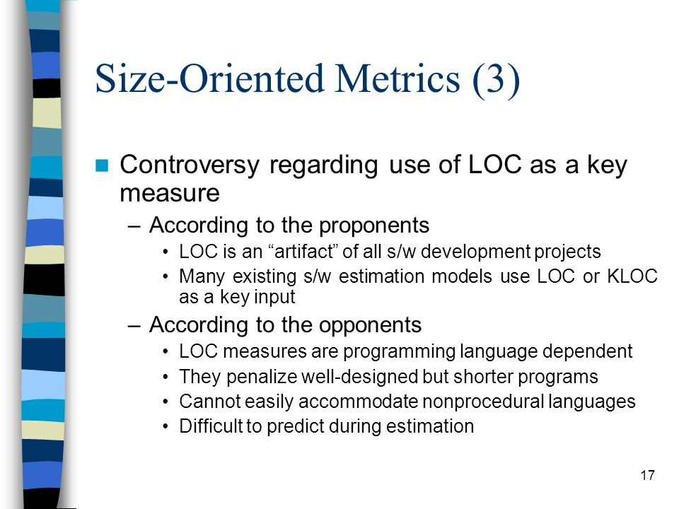 Size-Oriented Metrics (3)