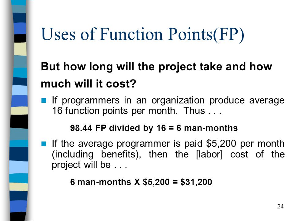 Uses of Function Points(FP)