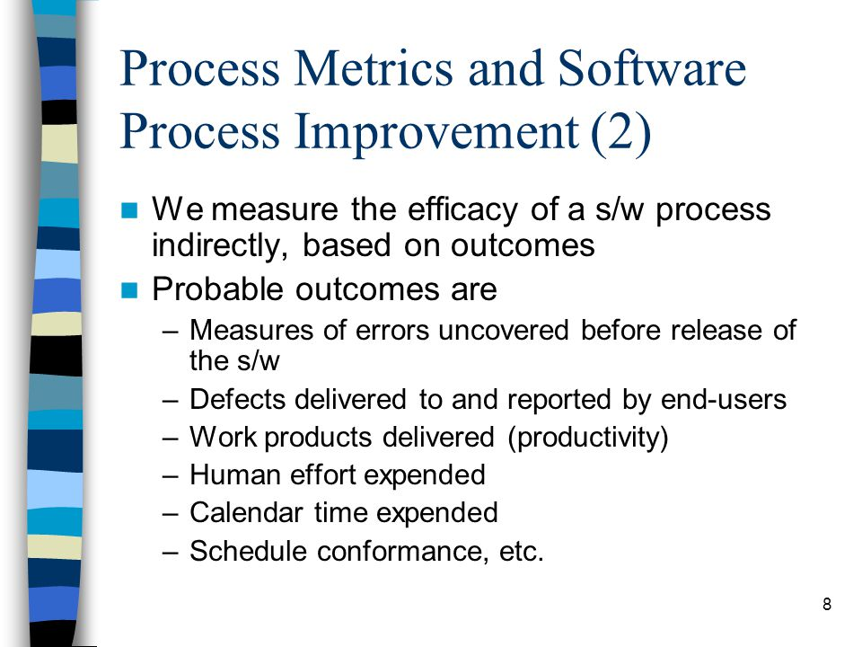 Process Metrics and Software Process Improvement (2)