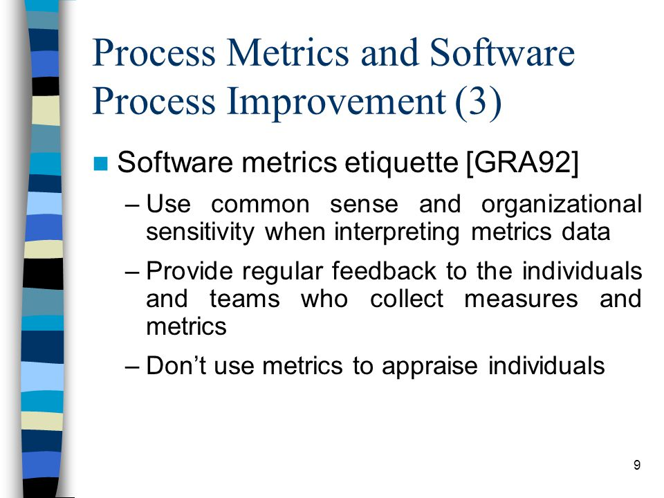 Process Metrics and Software Process Improvement (3)