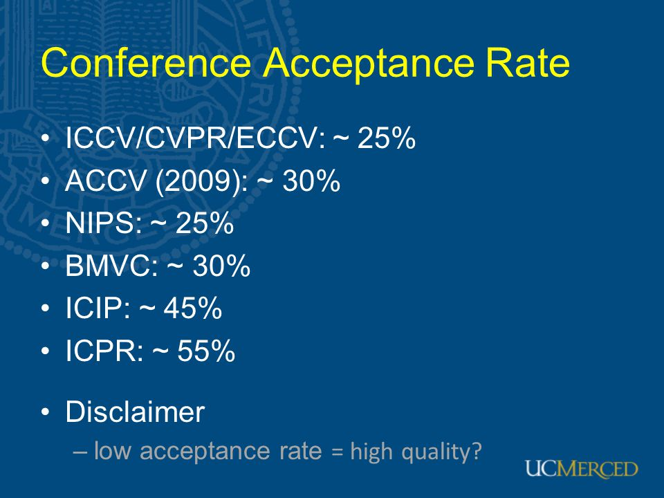 Conference Acceptance Rate