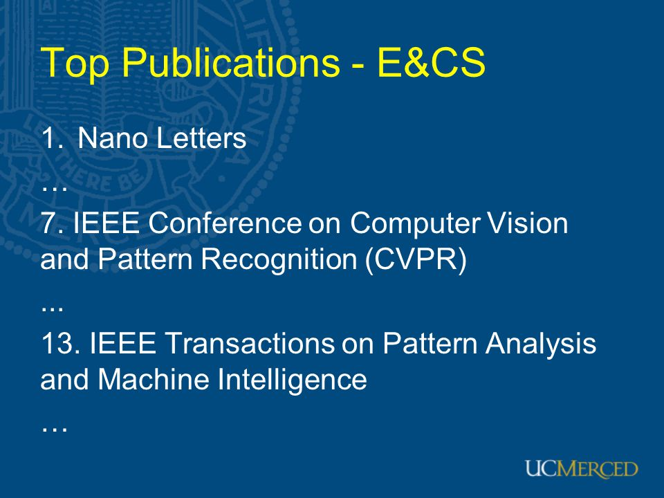 Top Publications - E&CS