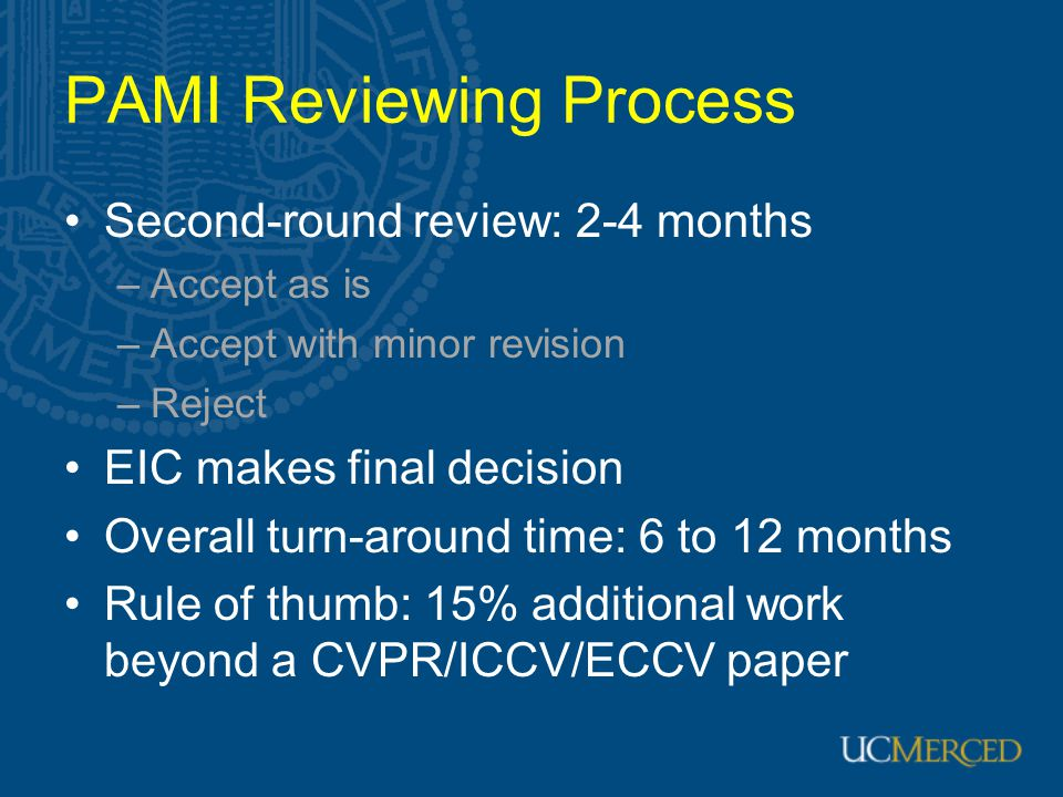 PAMI Reviewing Process