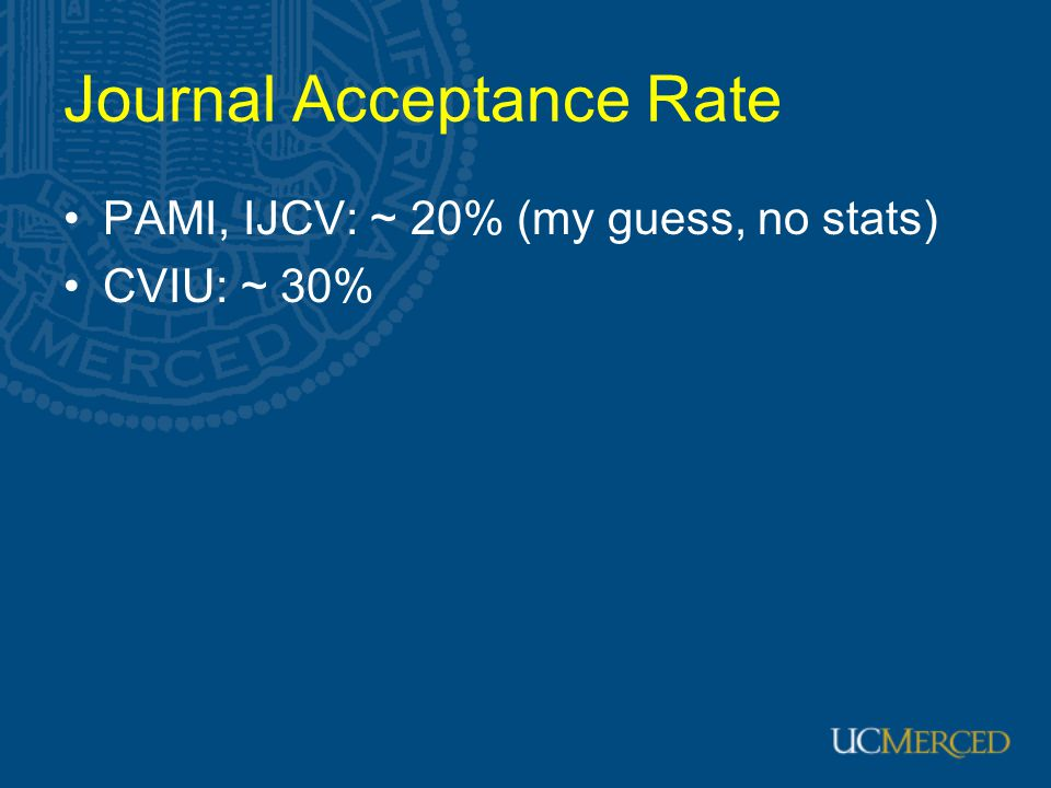 Journal Acceptance Rate