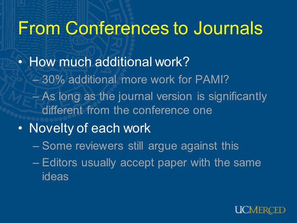 From Conferences to Journals