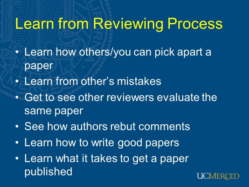 Learn from Reviewing Process