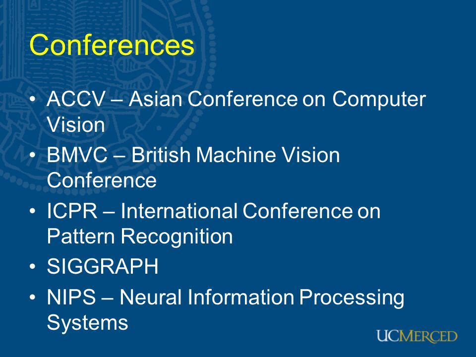 Conferences ACCV – Asian Conference on Computer Vision