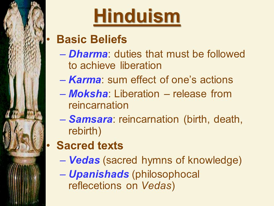 Hinduism Basic Beliefs Sacred texts