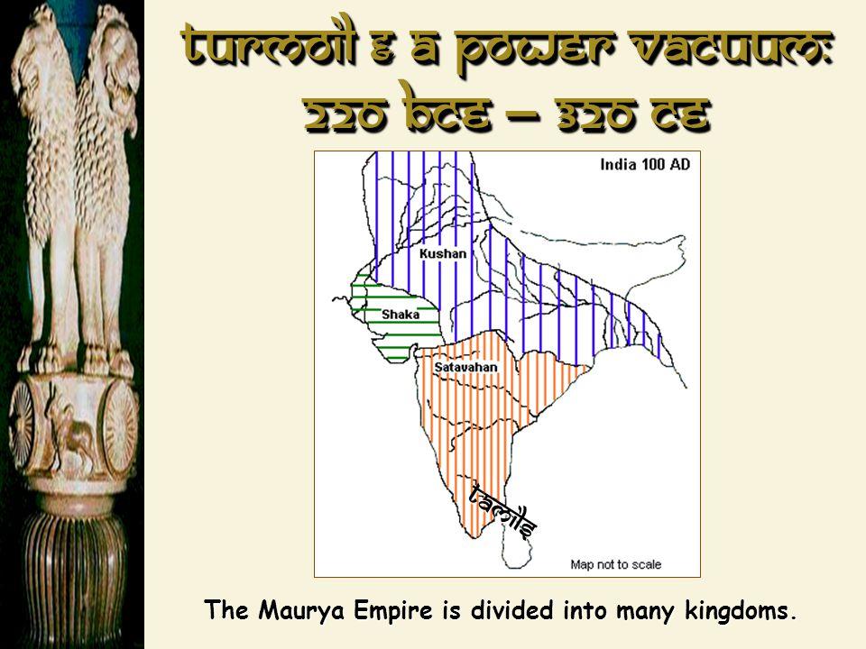 Turmoil & a power Vacuum: 220 BCE – 320 CE
