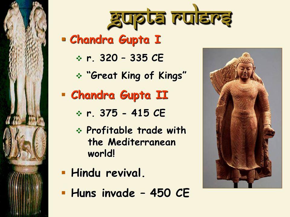 Gupta Rulers Chandra Gupta I Chandra Gupta II Hindu revival.