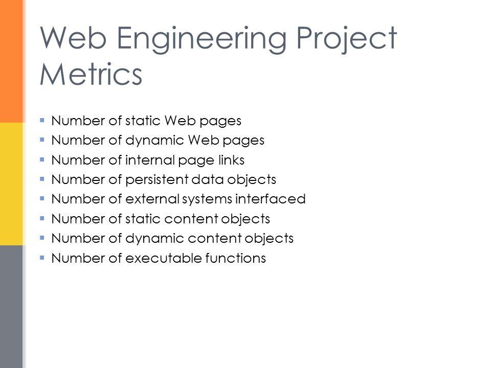 Web Engineering Project Metrics