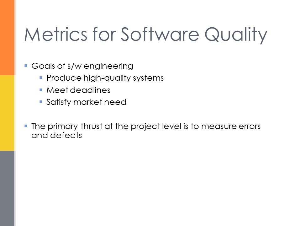 software metrics in software engineering pdf