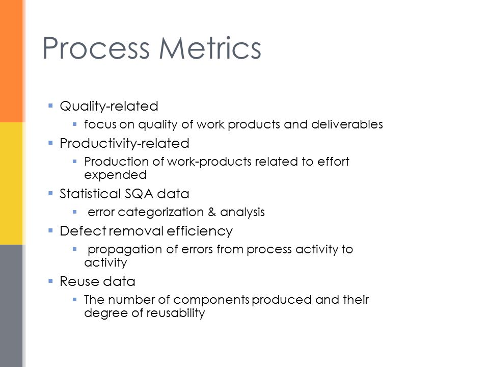 Process Metrics Quality-related Productivity-related
