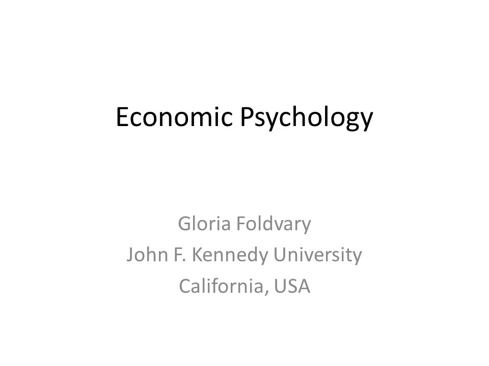Gloria Foldvary John F. Kennedy University California, USA