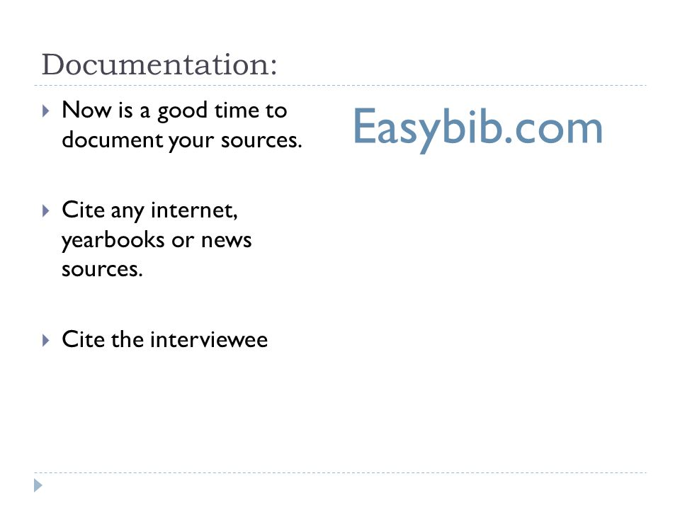 Easybib.com Documentation: