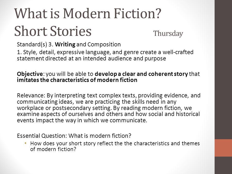 What is Modern Fiction Short Stories Thursday