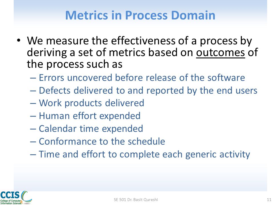 Metrics in Process Domain