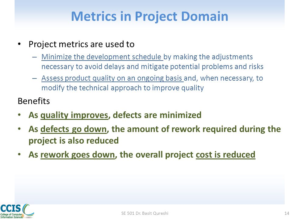 Metrics in Project Domain