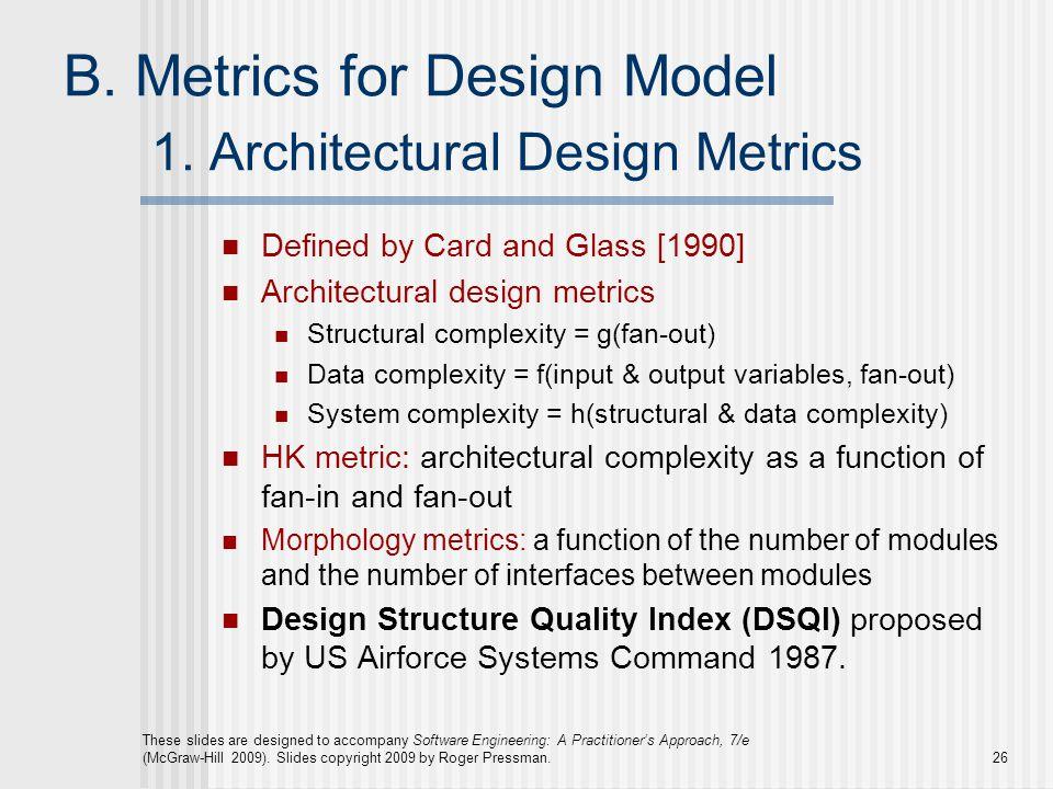 1. Architectural Design Metrics