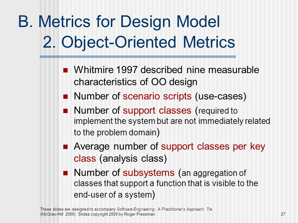 2. Object-Oriented Metrics