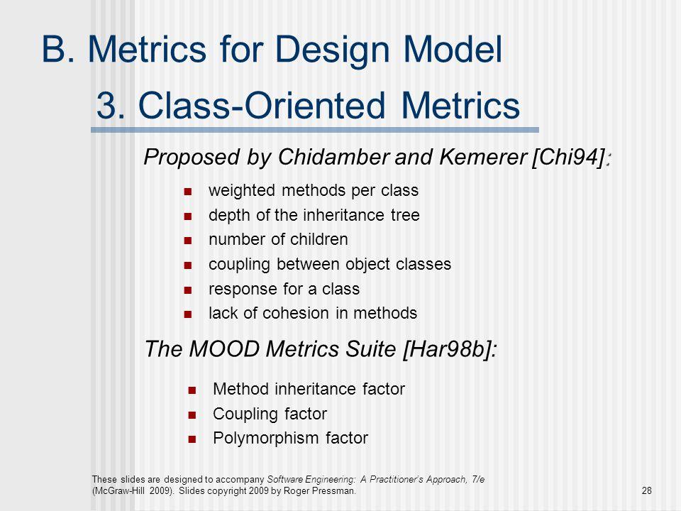3. Class-Oriented Metrics