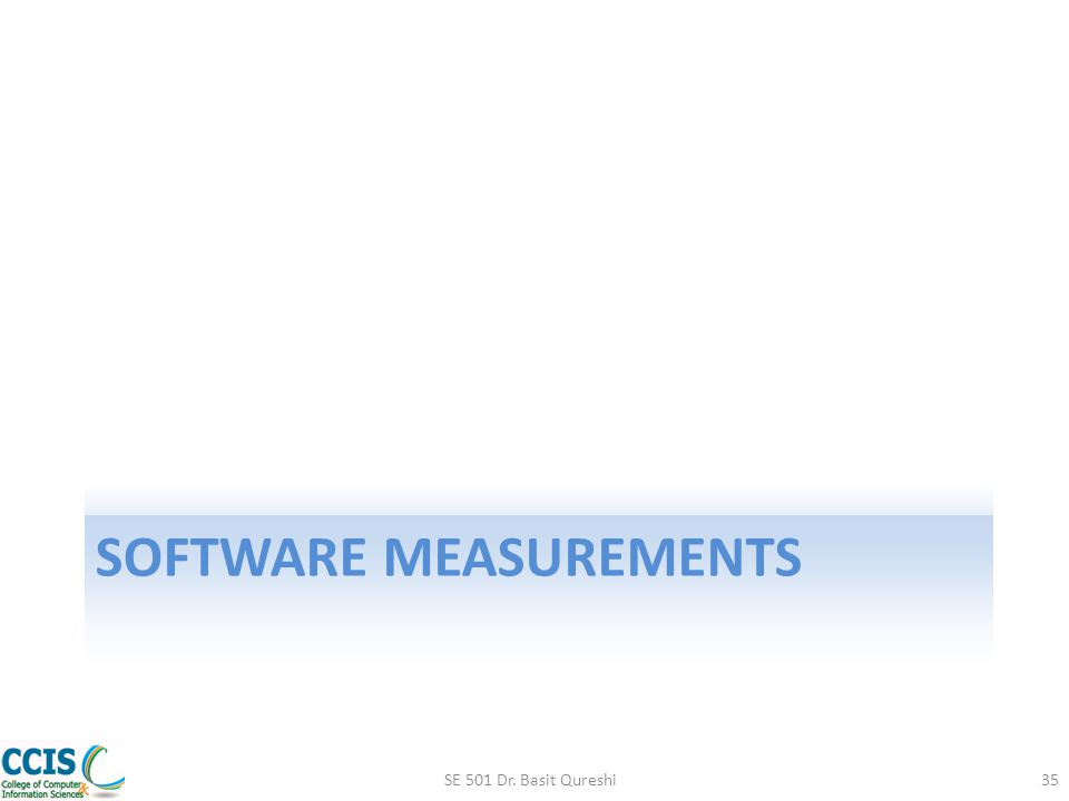 Software measurements