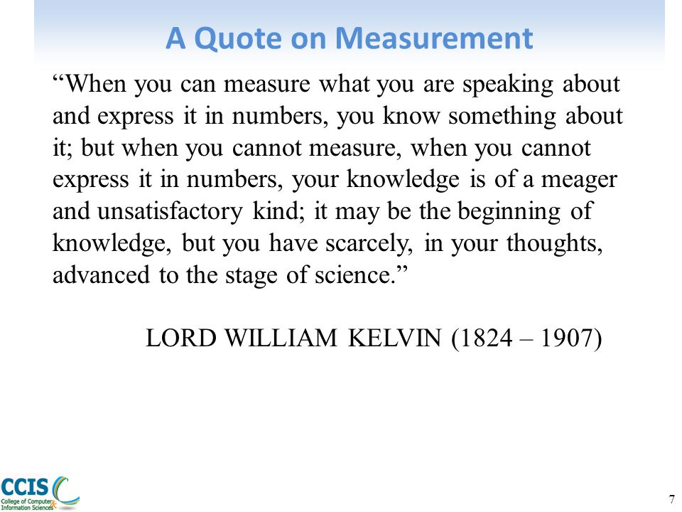 A Quote on Measurement