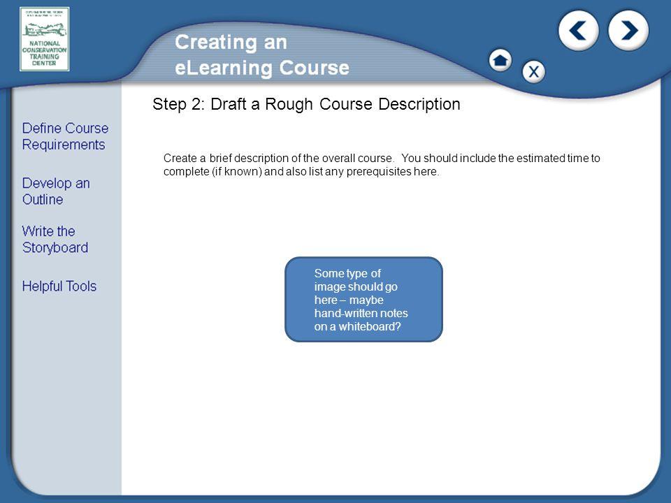 Step 2: Draft a Rough Course Description