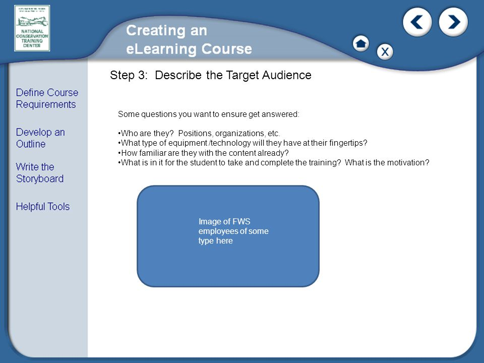 Step 3: Describe the Target Audience