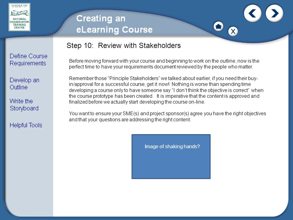 Step 10: Review with Stakeholders