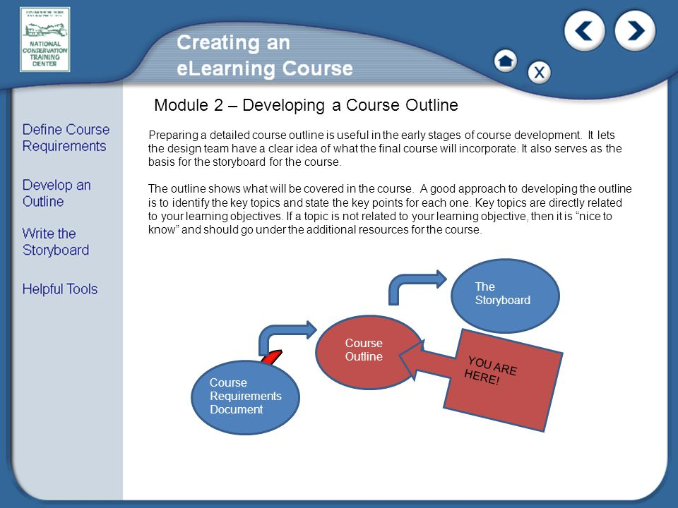 Module 2 – Developing a Course Outline