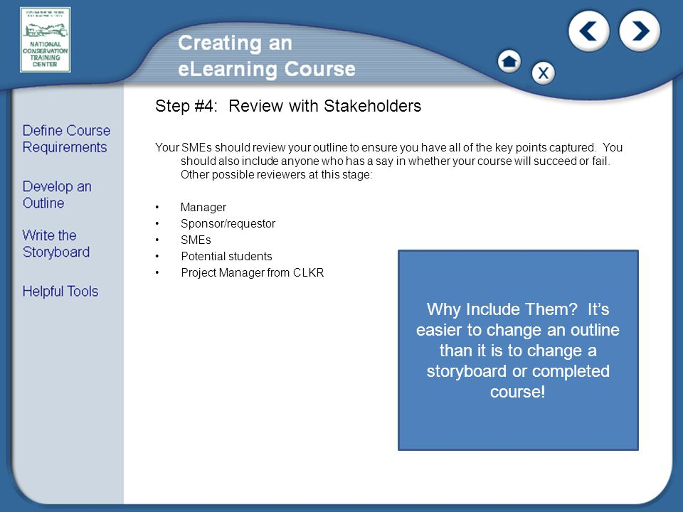 Step #4: Review with Stakeholders
