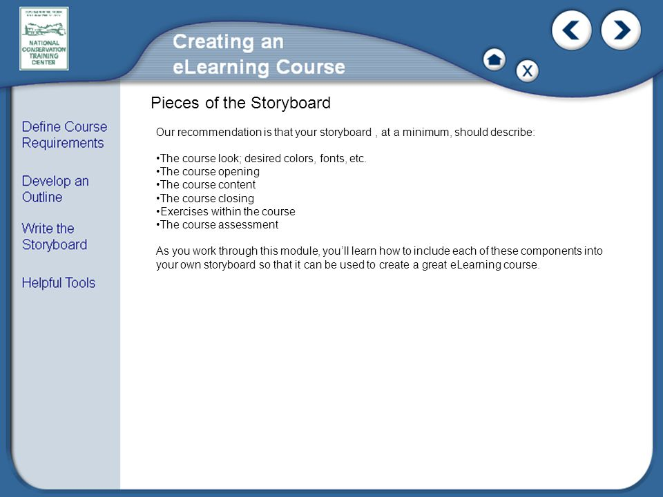 Pieces of the Storyboard