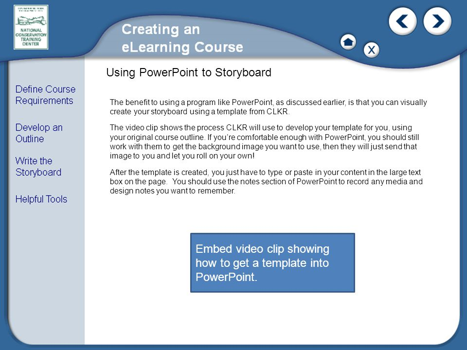 Using PowerPoint to Storyboard