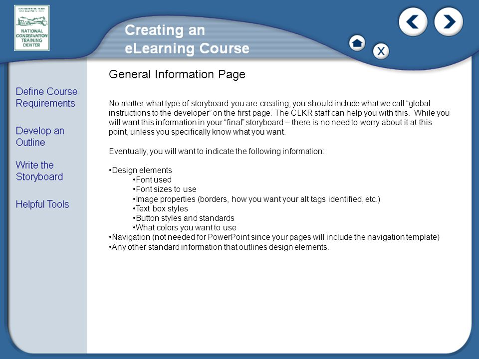 General Information Page
