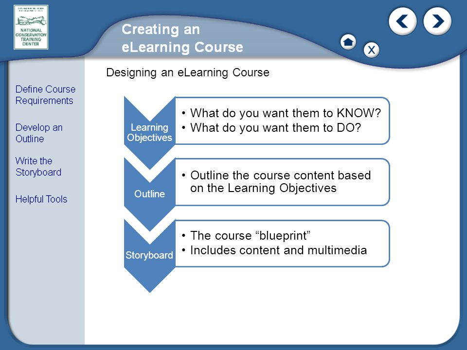 Designing an eLearning Course