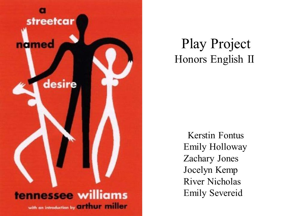 Play Project Honors English II Kerstin Fontus Emily Holloway