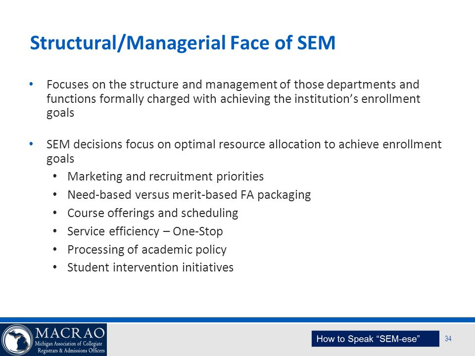 Structural/Managerial Face of SEM