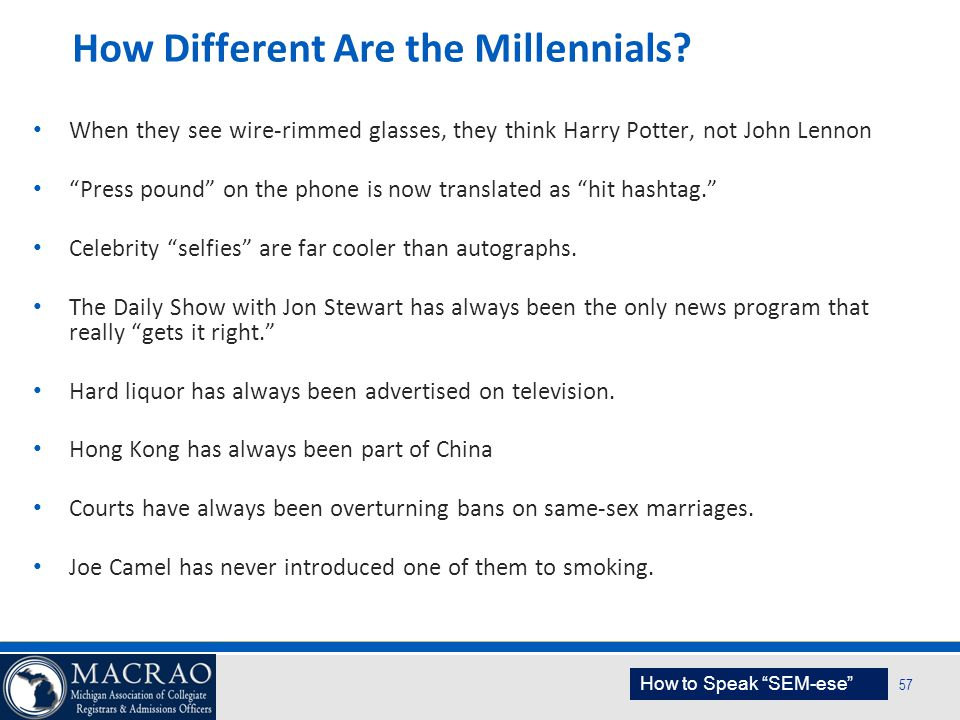 How Different Are the Millennials
