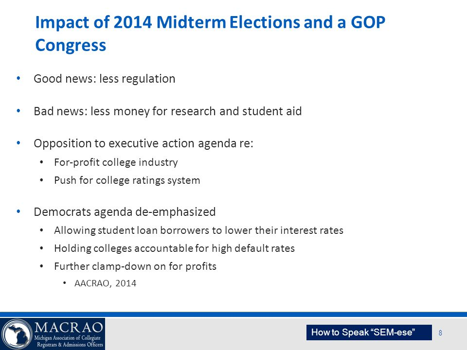 Impact of 2014 Midterm Elections and a GOP Congress
